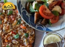 McCain Ultra Thin Angus Beef Pizza With Fresh Salad