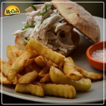 Toasted Chicken Sandwich With McCain Crinkle Cut Fries