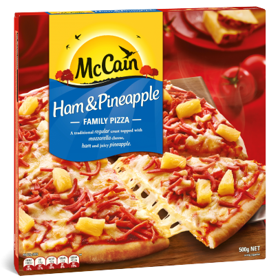 Ham & Pineapple Family Pizza