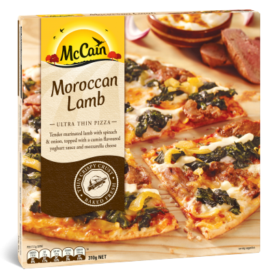 Ultra Thin Moroccan Lamb Pizza