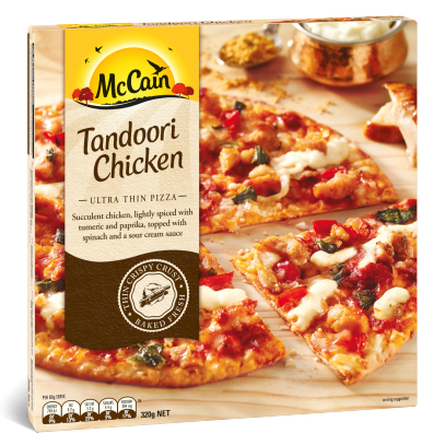 Ultra Thin Tandoori Chicken Pizza