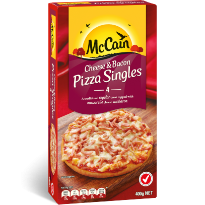 Cheese & Bacon Pizza Singles
