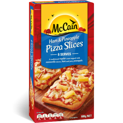 Ham & Pineapple Pizza Slices