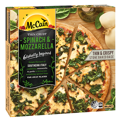 Ultra Thin Spinach And Mozzarella