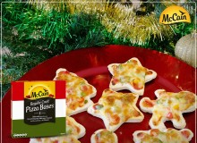 Christmas Mini Pizzas