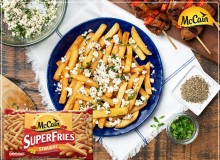 Greek Superfries with Grilled Lamb Skewers