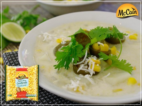 Sweet Corn Coconut Chowder with a Thai twist!