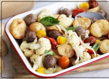 Meatball One-Tray Bake