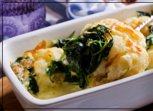 Cauliflower Spinach Cheese Bake