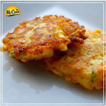 Corn And Asparagus Fritters