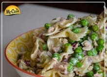 Easy Tuna Pasta Salad With Dill & Peas