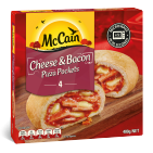 Cheese & Bacon Pizza Pockets 400g