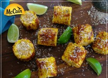 Sweet and Spicy BBQ Corn Cobbettes