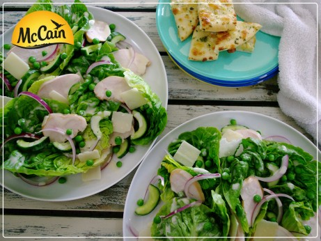 Smoked Chicken and Baby Pea Salad