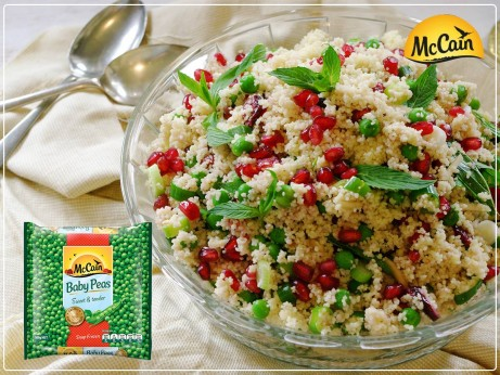 Pomegranate and Pea Couscous
