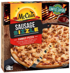 Sausage Sizzle Family Pizza 500g